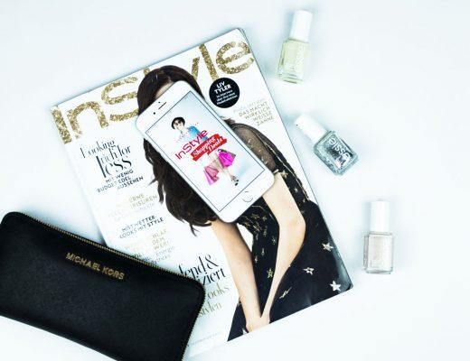 Zeitschrift und Nagellack und iPhone