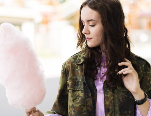 Header, Portrait, Zuckerwatte