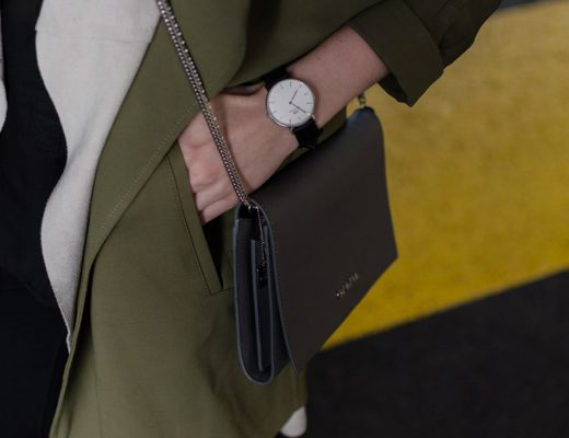 Header - Detail Uhr, Calvin Klein Bag, Mantel von SET