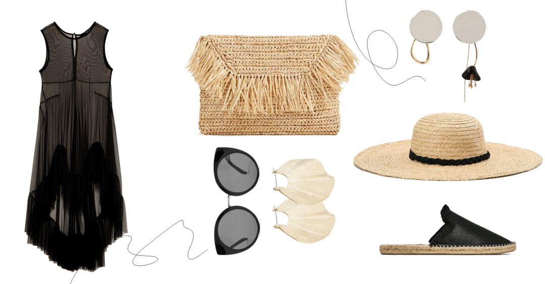 Collage 'The Straw Bag'