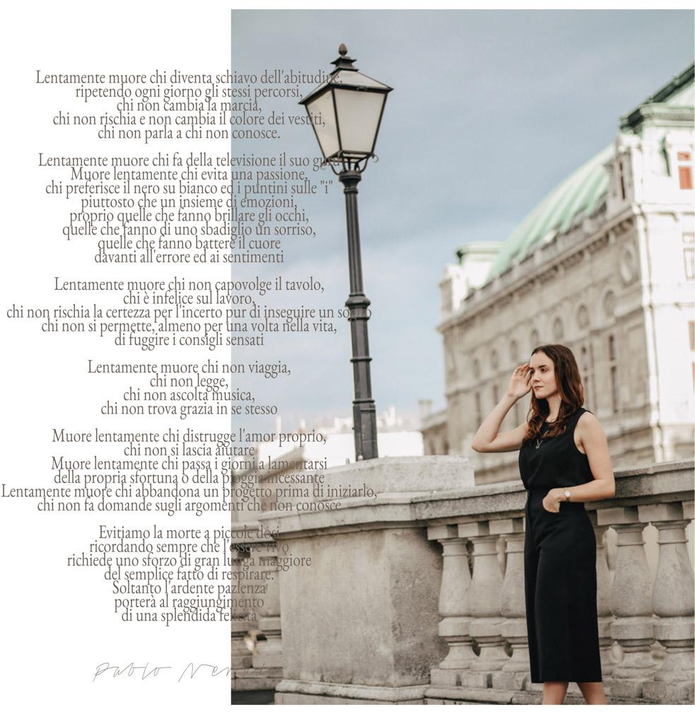 Ode alla Vita, Gedicht