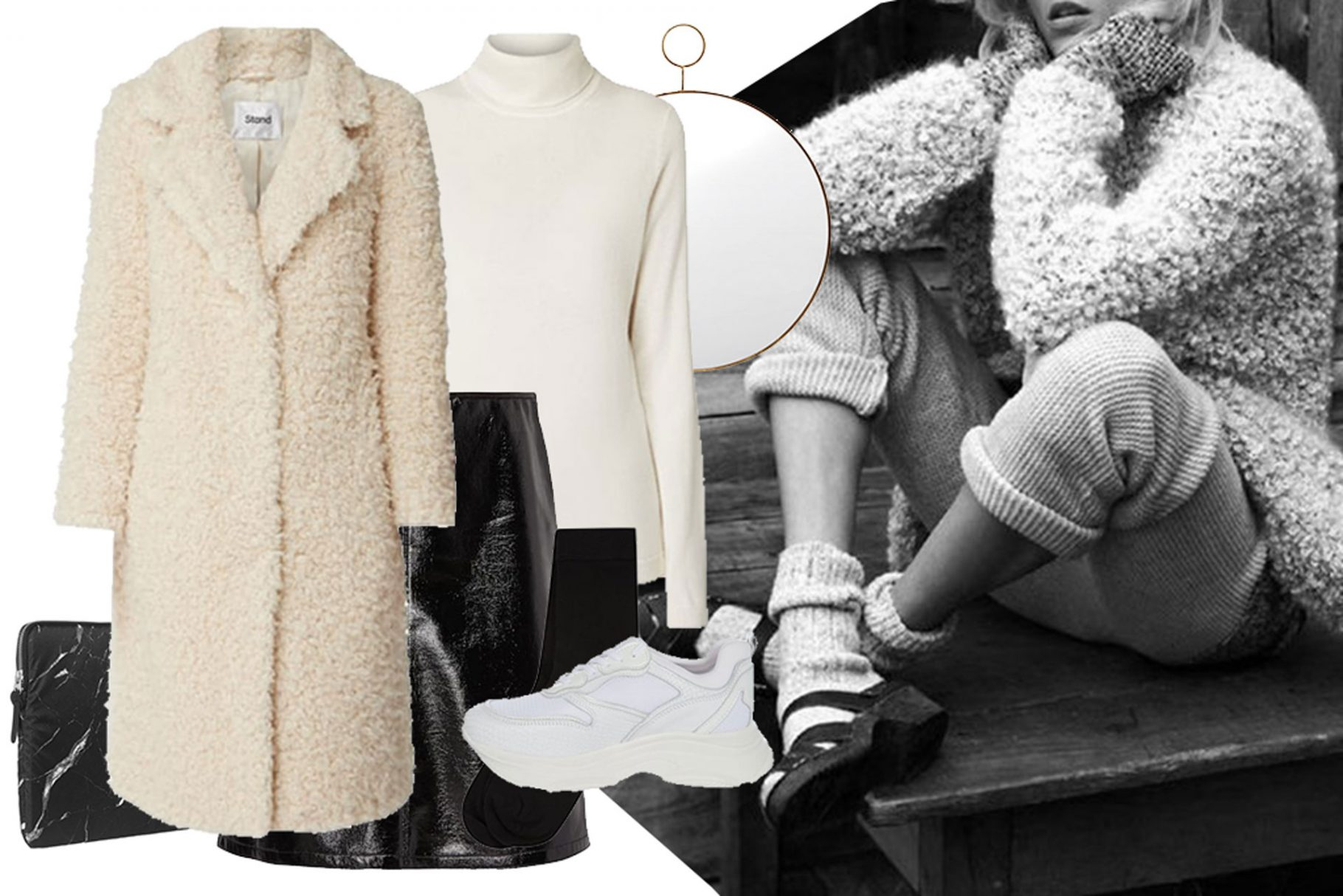 CASHMERE MEETS CHUNKY SNEAKERS